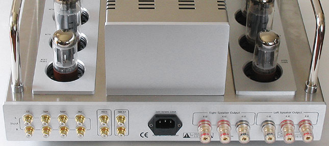 Rear view of the Eastern Electric M520 amplifier