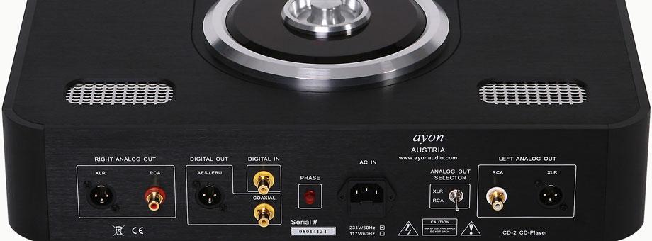 Ayon Audio CD-2 CD player Rear Panel Close Up