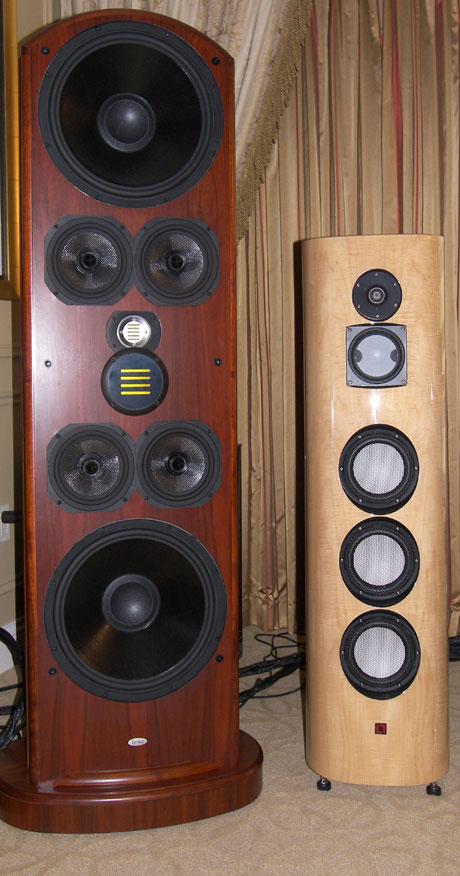 Legacy Audio Whisper XD and LumenWhite Aquila speakers