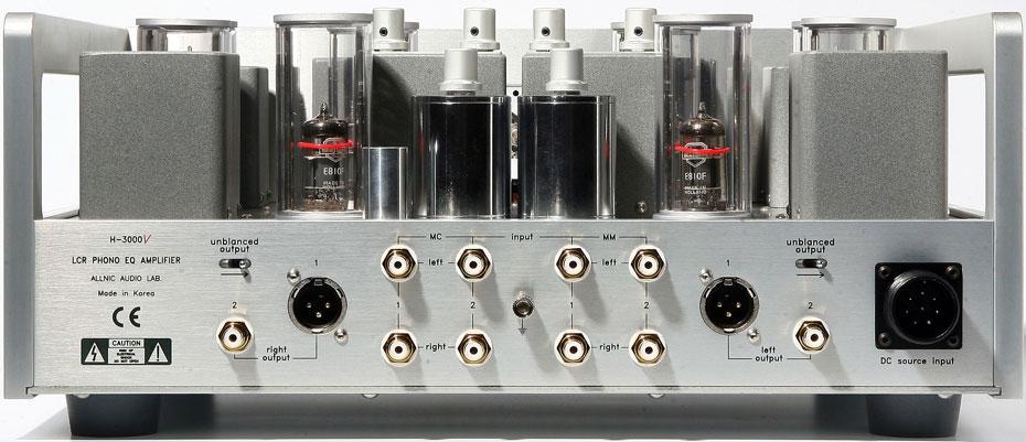 Allnic L-3000 Preamplifier rear panel