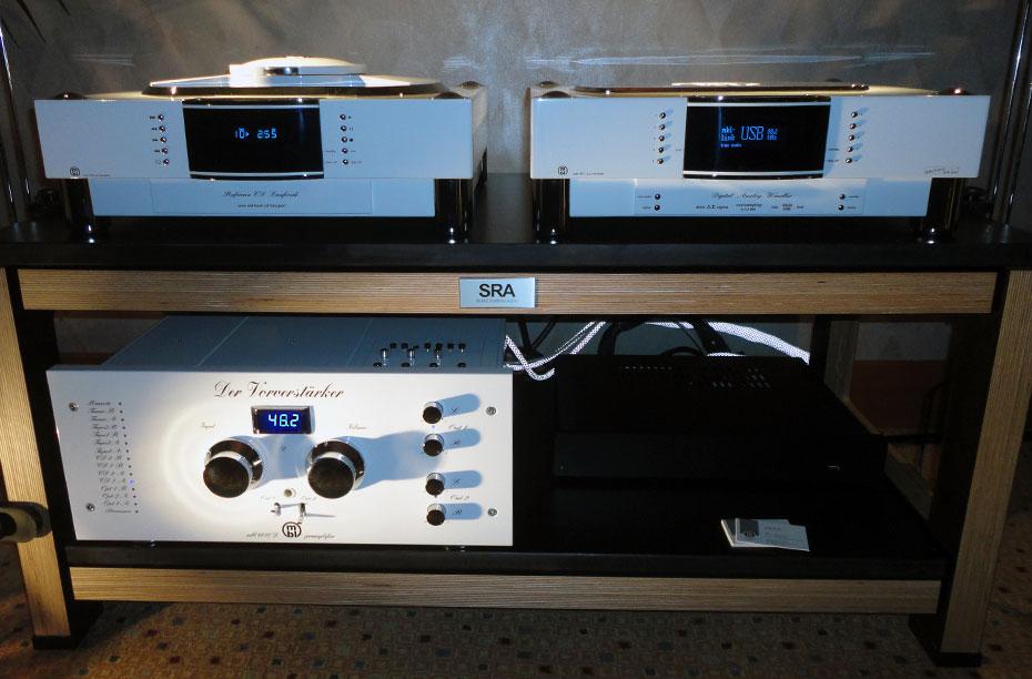 MBL 1621A CD Transport, 1611F D/A Converter, and 6010D Preamplifier