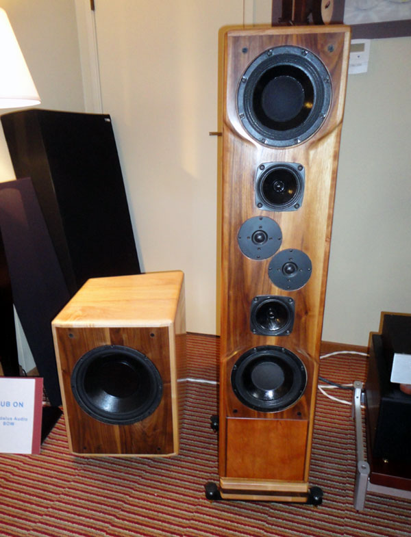 Daedalus Audio Ulysses Speakers and BOW (bass optimization woofer)