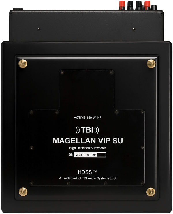 TBI Audio Systems Magellan VIP su Active Subwoofer System bottom view