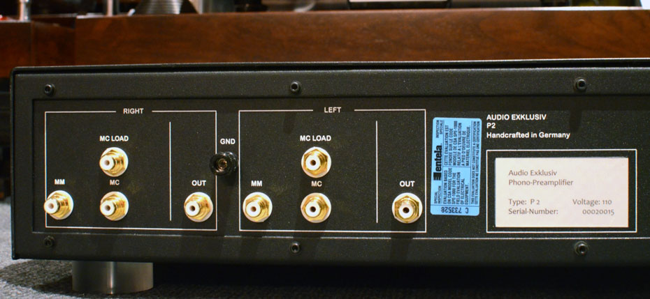 Audio Exklusiv P2 Phono Preamplifier Rear Panel