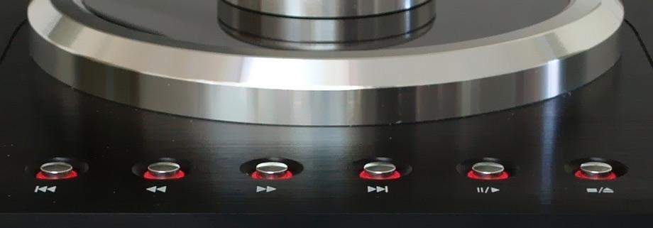 Ayon Audio CD3 CD Player play controls close up