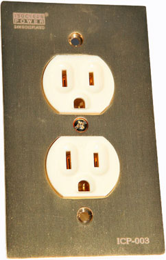 Isoclean ICP-003G 2-position wall socket