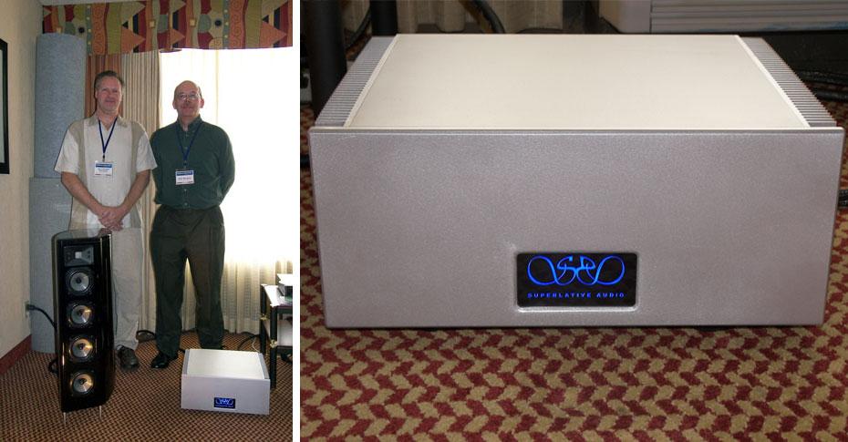 Nick and Alan of Raven Design with Ebb speakerSuperlative Audio SSA Amplfier