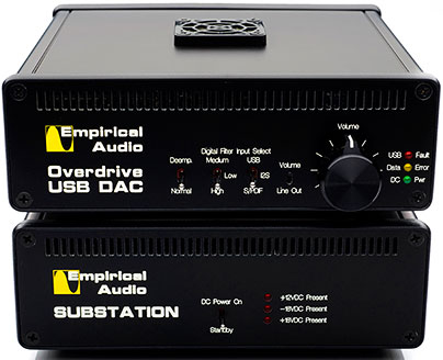 Empirical Audio Overdrive DAC Pace Car Reclocker and Monolith Battery Supply