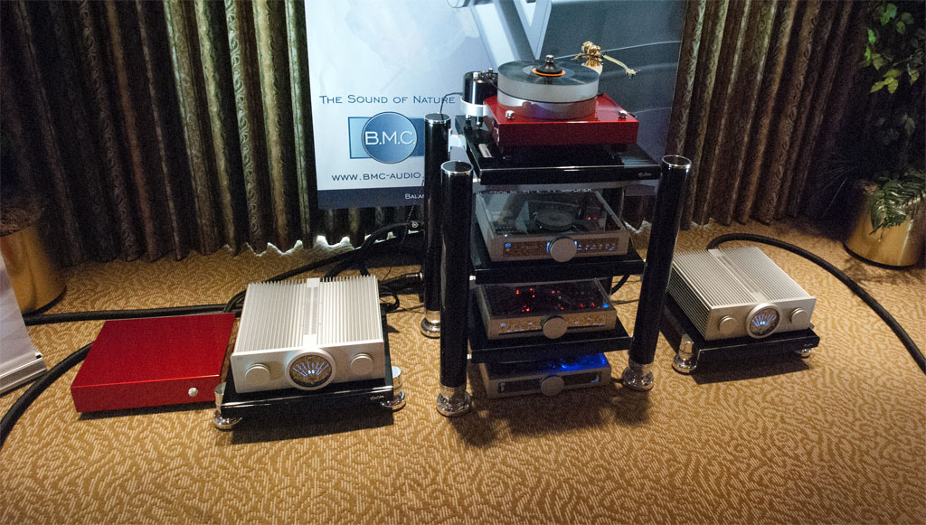Aaudio Imports - BMC AMP M2 ($15,980) - BMC MCCI Phono Stage ($3890) - BMC BDCD1.1 Belt Drive CD Player-Transport ($5990) - BMC DAC1 PRE ($6290) - Hartvig TT Sig Gramophone ($28,400) with Battery Supply ($5400) - Stage III Concepts cables - Tandem rack ($16,100)