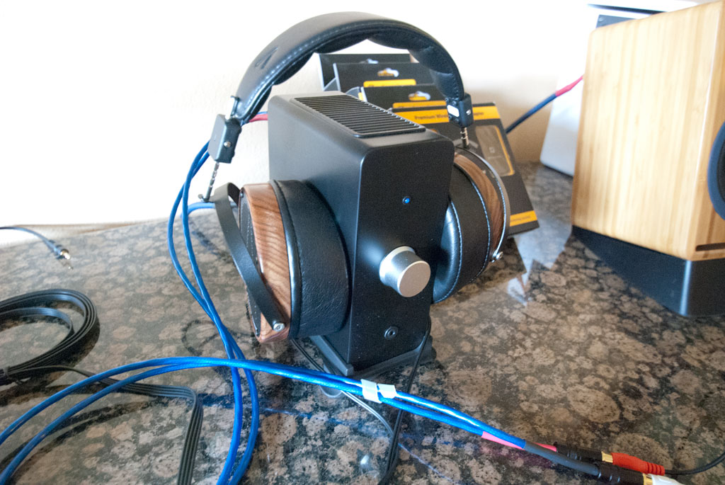 Audioengine N22 Desktop Amplifier and Headphone Amplifier with Audeze LCD-2 headphones