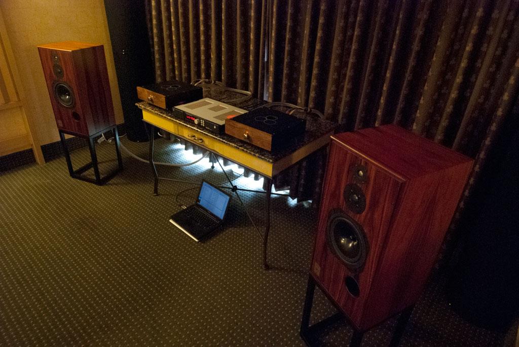 Red Wine Audio Isabella Renaissance Edition 6H30 pre ($3995) - Sig 57 Integrated Amp ($3995) - Liliana Renaissance Edition Mono-blocks ($5995) - Bricasti design Model 1 USB DAC ($7995) - Harbeth Super HL5 speakers ($5690)