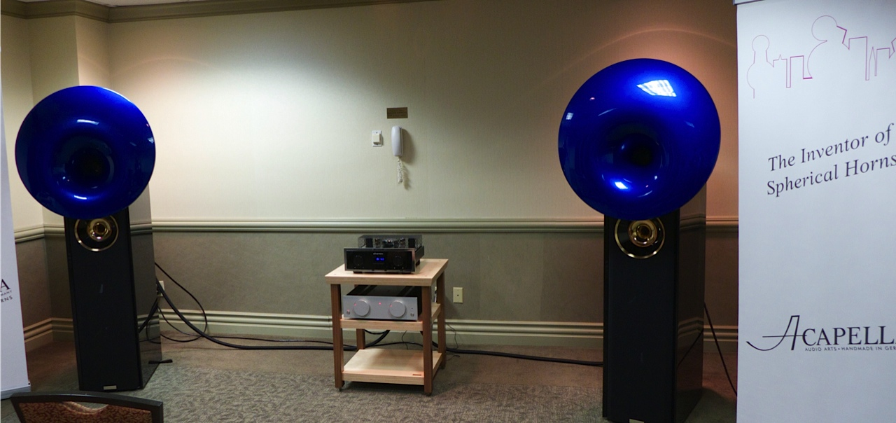 The Atlas speakers power by the LaMusika integrate amp for a cool $100,000.